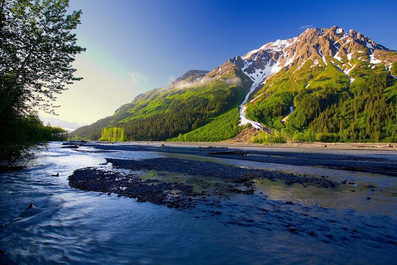 Alaska, Exit Glacier Road View, Seward  Landscape, 拉斯阿加 风景