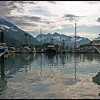Valdez boat harbor, stormy morning