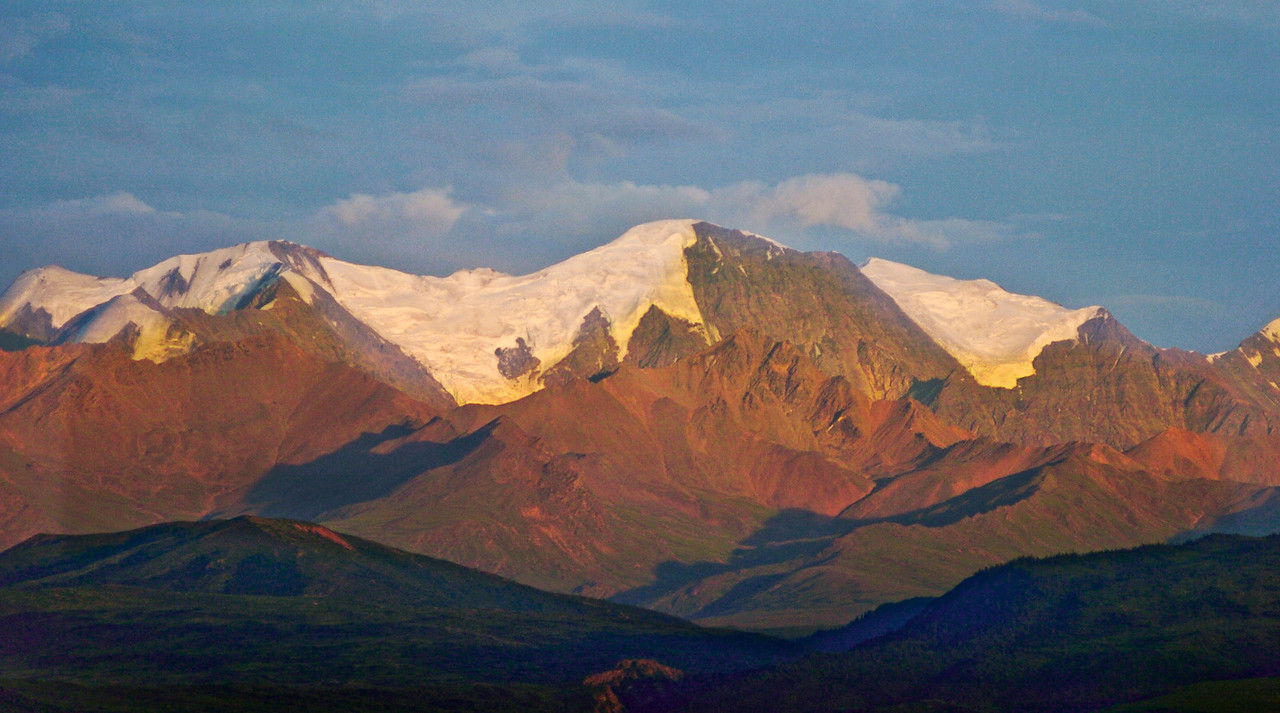 Alaska Range, 30 miles SE of Delta Junction, Alaska - taken with Nikon D2h, when properly exposed, would give a looked similar to Ektachrome slide film.