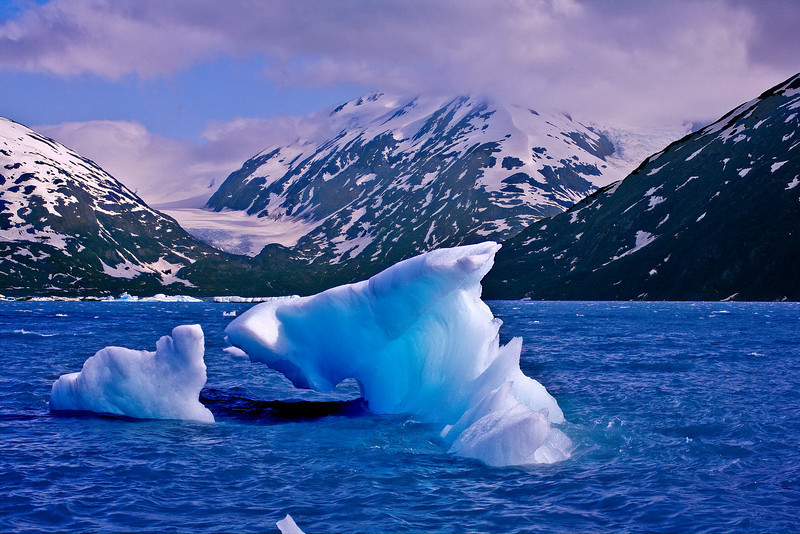Alaska, Portage Lake, Glacier, Landscape, 阿拉斯加,  冰川 风景