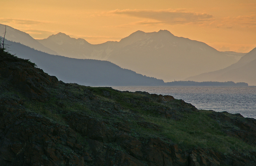 Sunrise on Turnagain Arm south of Anchorage on a glorious summer morning.