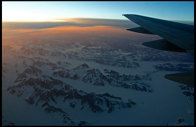 Flying over the glaciers, Alaska