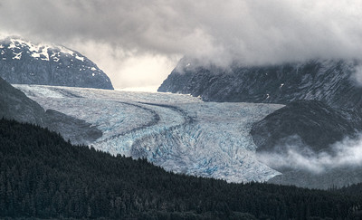 A glacier along the Inside Passage, AK
