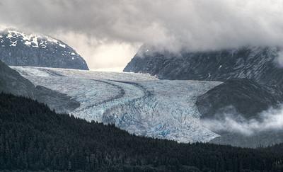A glacier along the Inside Passage, AK