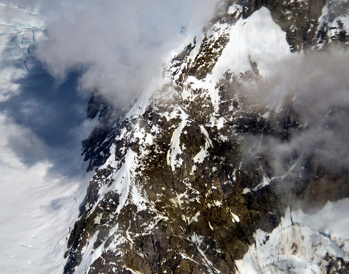 Selected view of Mt McKinley, Denali National Park, Alaska