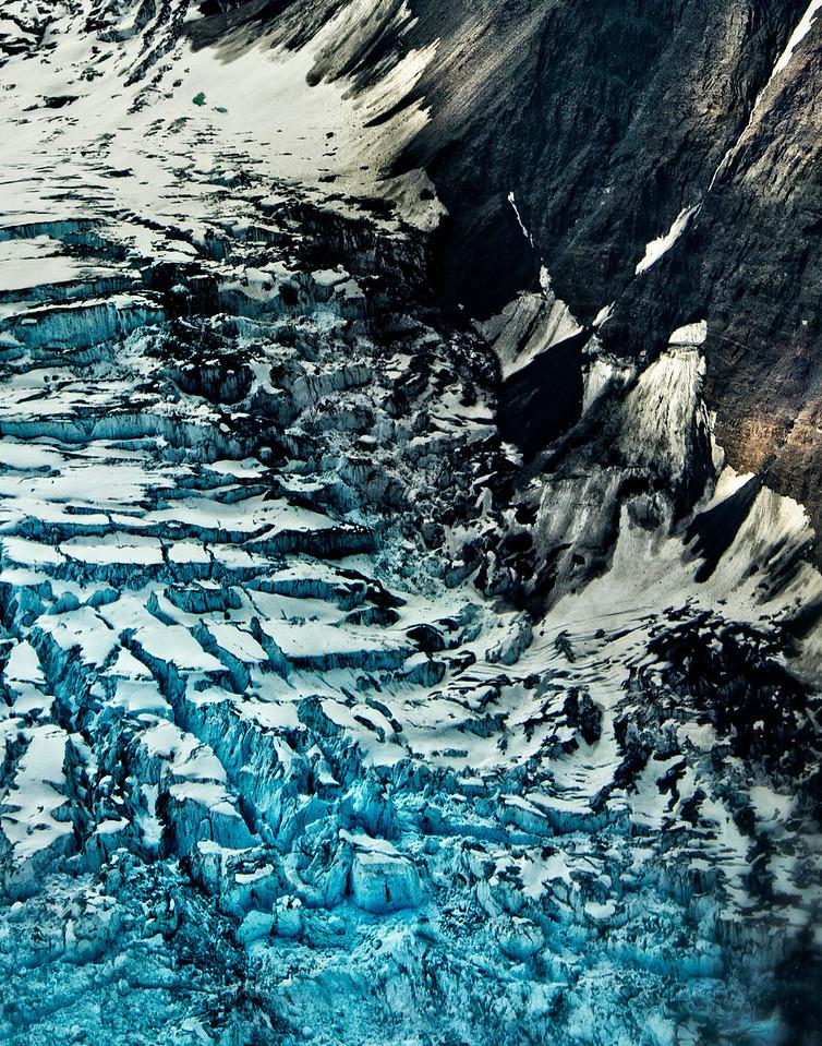 Close up of glacier, Denali National Park