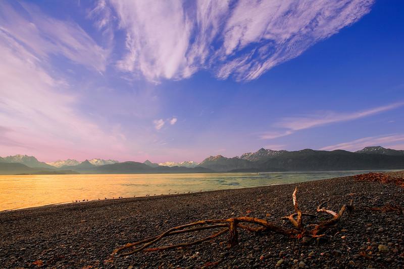 Alaska, Homer Spit, Kachemak Bay Landscape, 阿拉斯加 风景