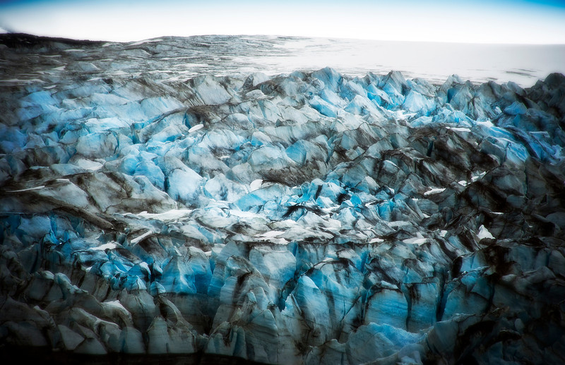 Close up of Margerie Glacier, Glacier Bay, Alaska