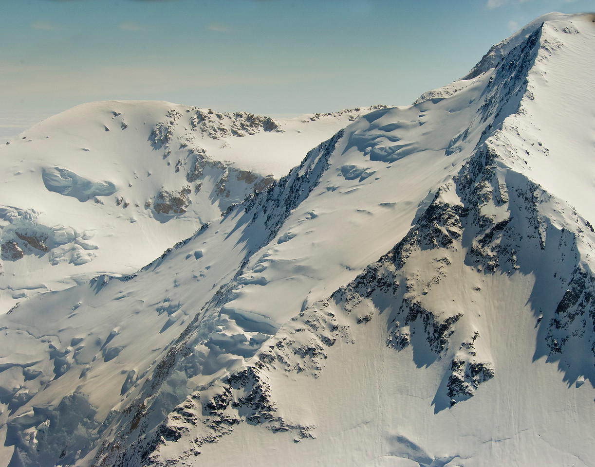 Looking up towards the summit of Mt McKinley