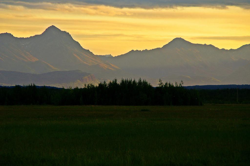 Sunrise over Palmer, Alaska.