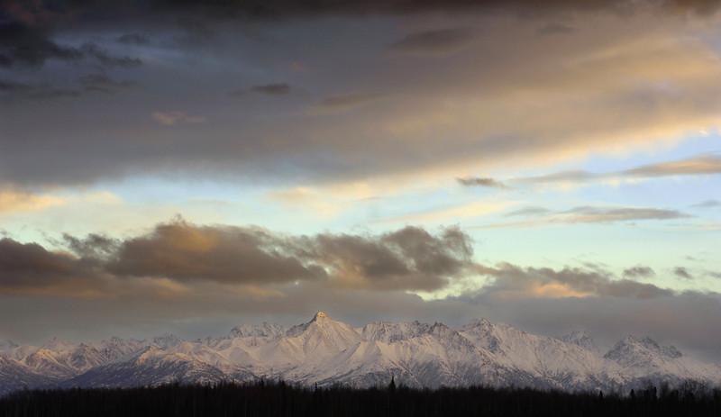 December 2006, Wasilla, Alaska- Chugach Range, Nikon D2x capture