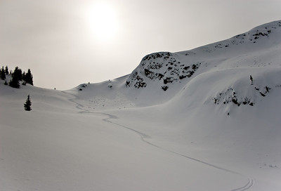 Ski track, British Columbia
