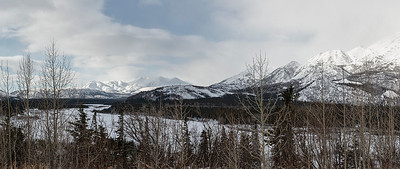 The Alaska Range, near Denali NP. Panorama, using 7 vertical images.