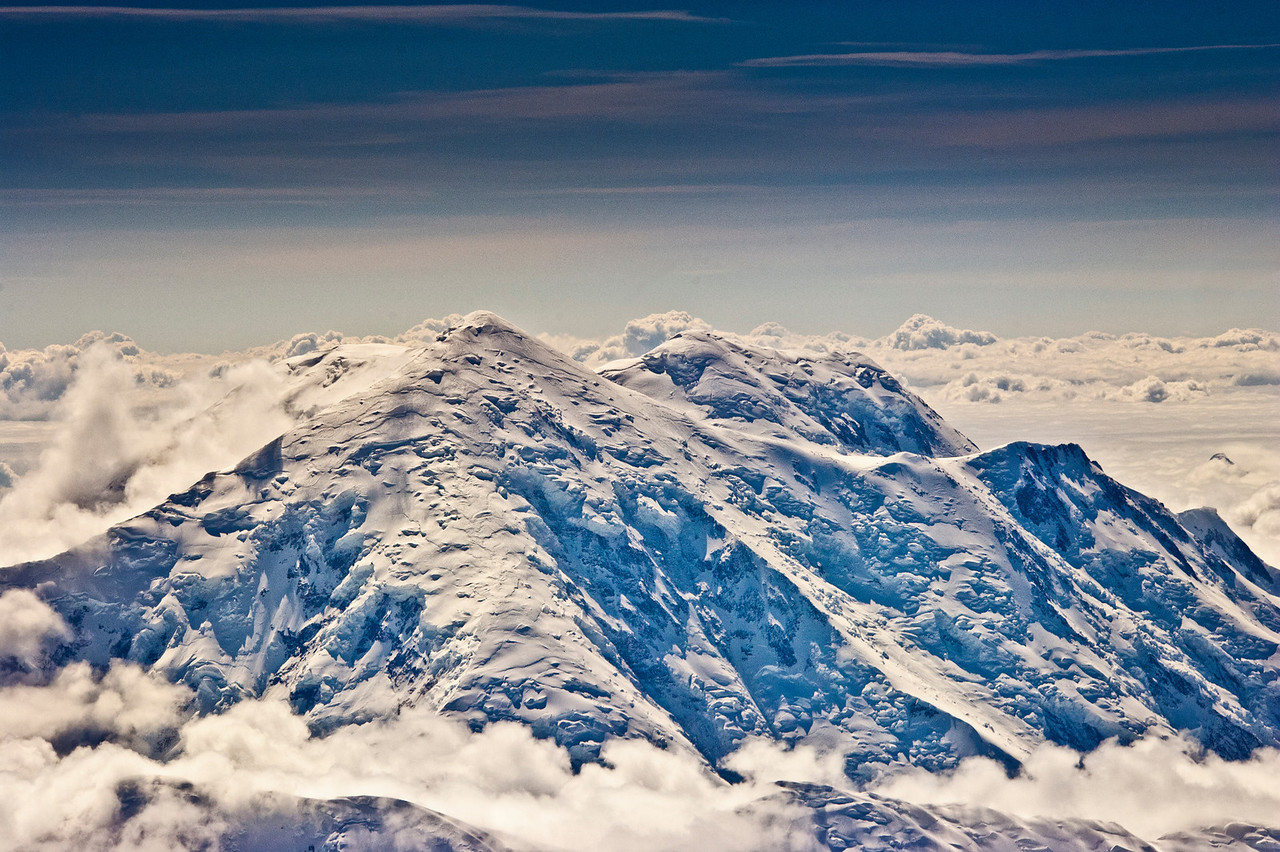 Mt Foraker, 17,400ft high, near Mt McKinley