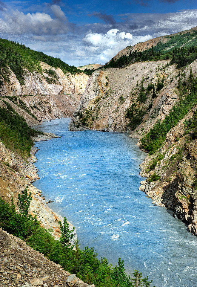 Healy Canyon, Nenana River, Alaska by the Alaska RR