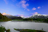Alaska, Seward, Exit Glacier Road Side View, Sunset Landscape, 拉斯阿加 风景