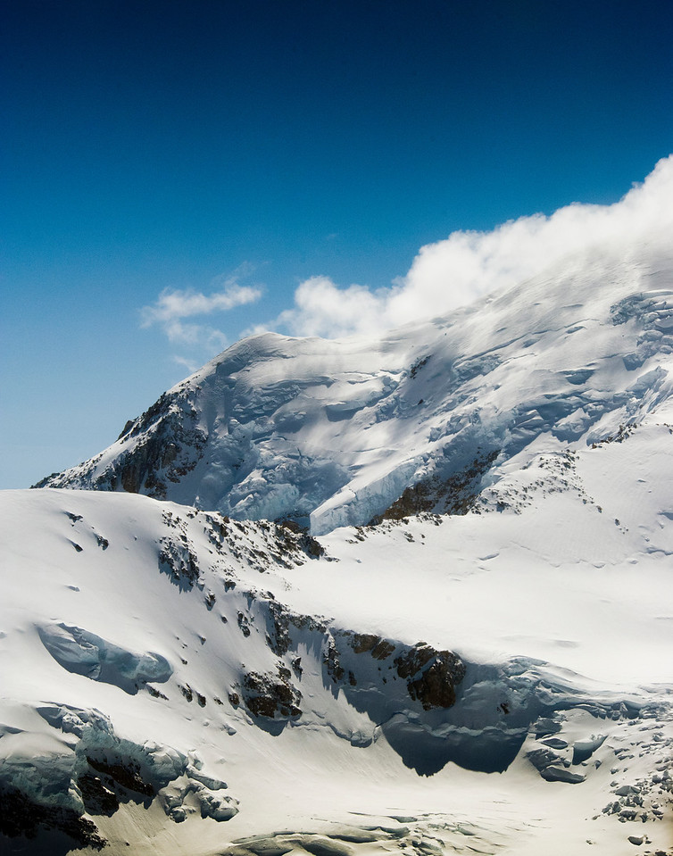 Side of Mt McKinley, Alaska Range