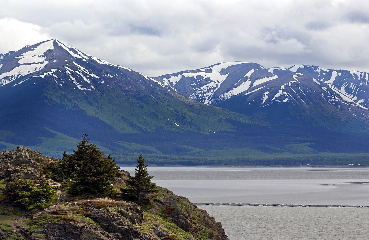 Turnagain Arm, Small community of Hope is across the inlet