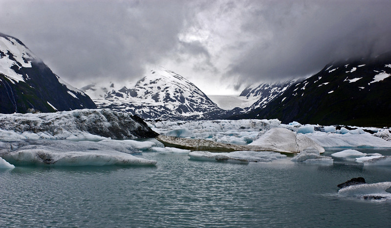 Portage Glacier, in earler times this was the passage to Seward