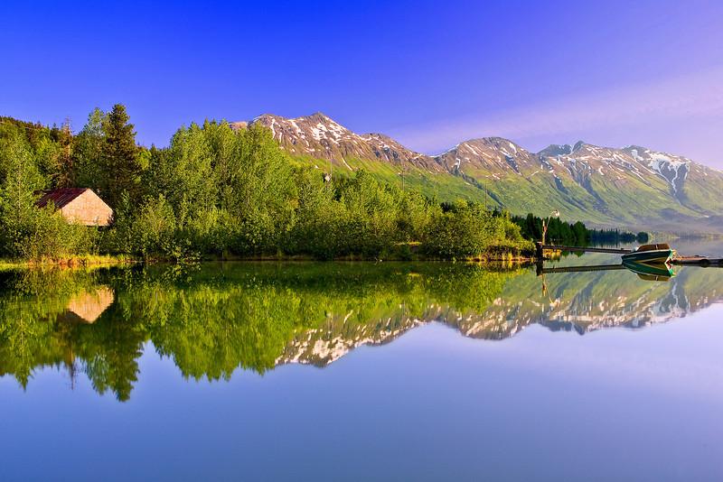 Alaska, Bear Lake, Chugach National Forest, Seward, Reflection Landscape, 阿拉斯加 风景