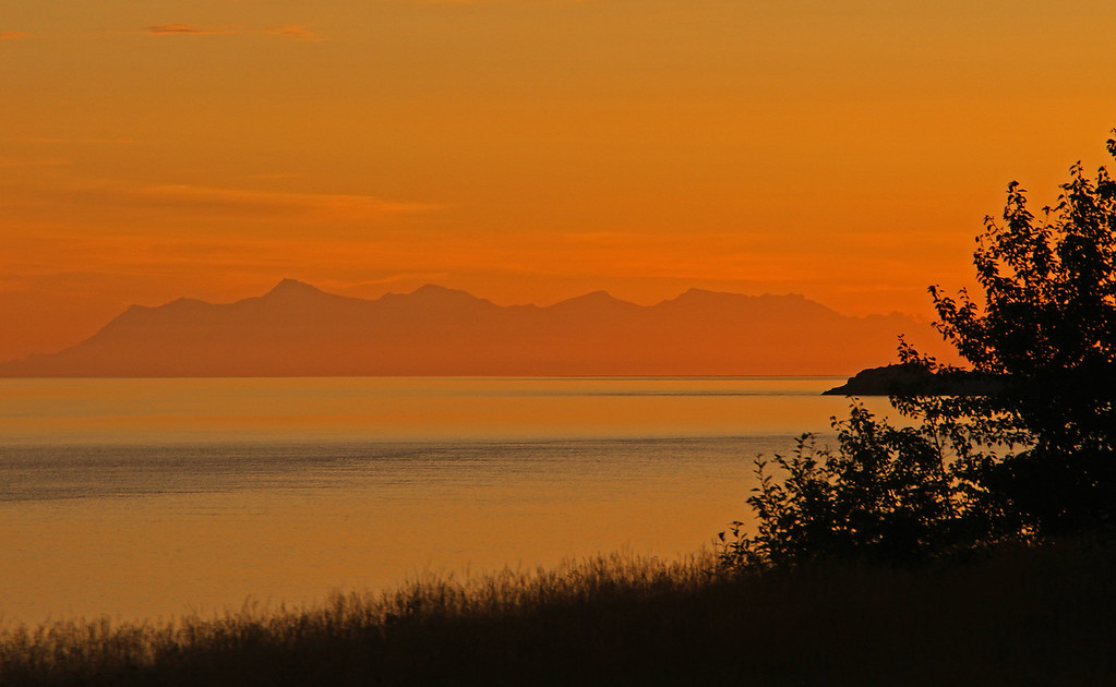 Sunset over Cook Inlet