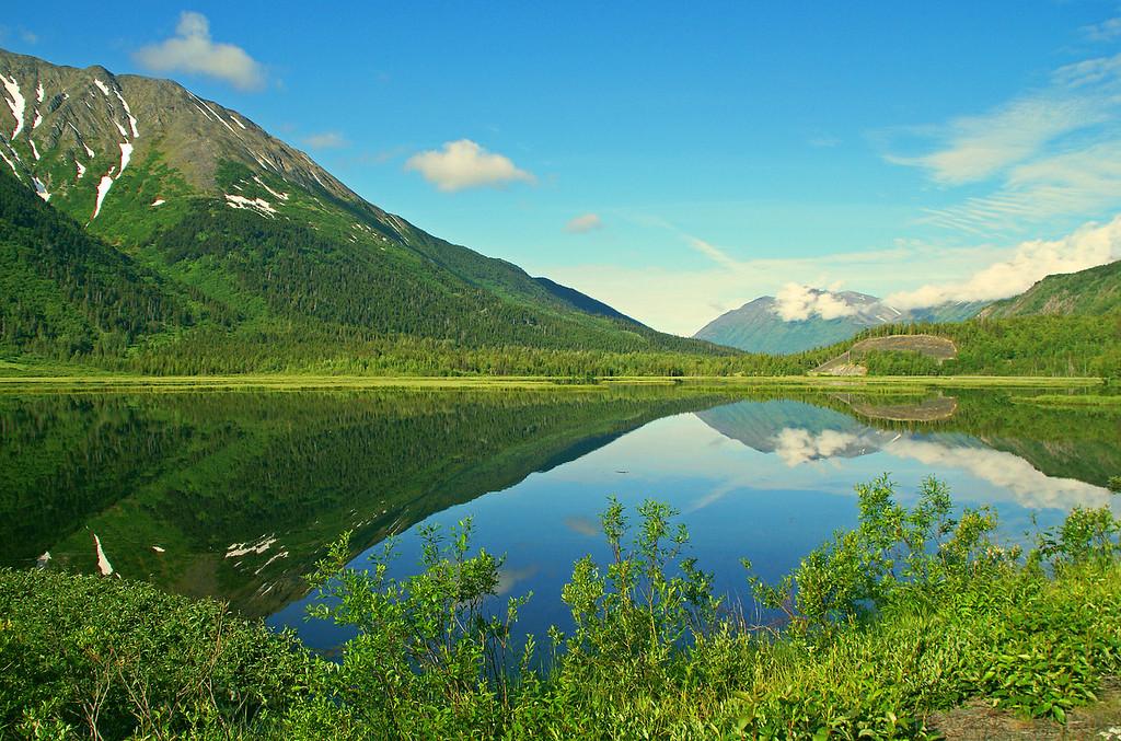 A beautiful summer day is captured in Tern Lake on the Kenai Peninsula.