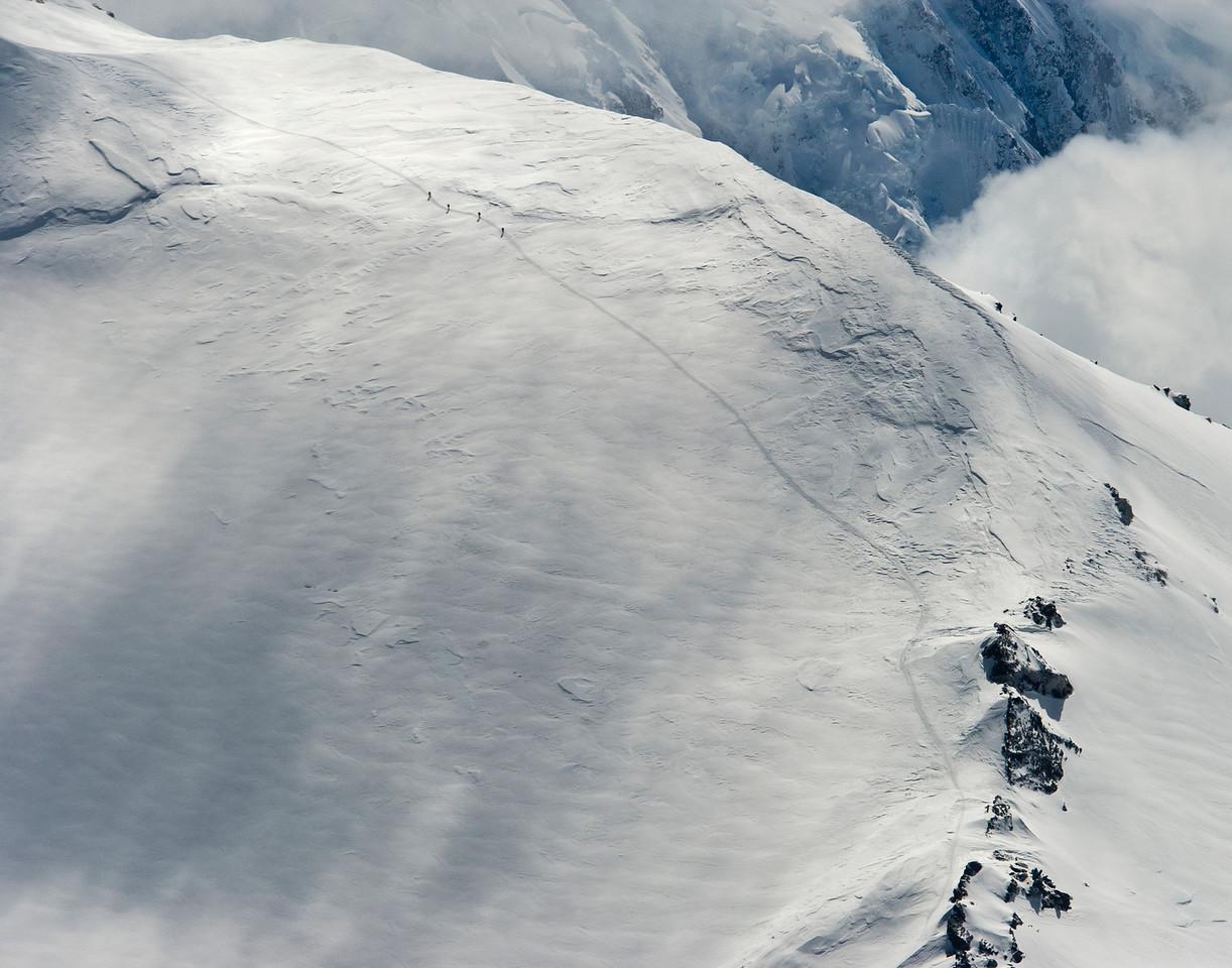 Four climbers on Mt McKinley (Denali), Denali National Park