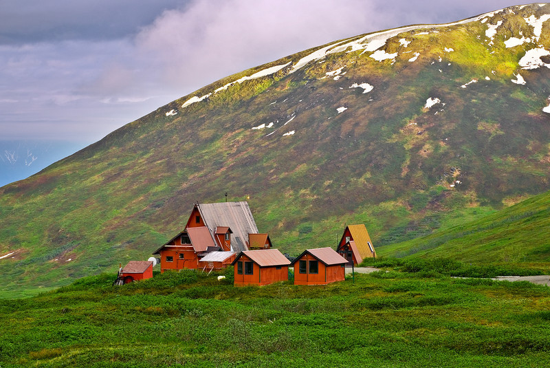 Alaska, Mat-Su, Independence Mine Park Landscape, 阿拉斯加 风景