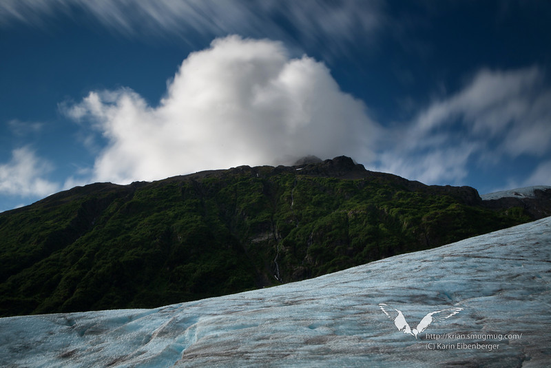 August 2011. Hiking to the glacier terminus of Exit Glacier, Kenai Fjords National Park.