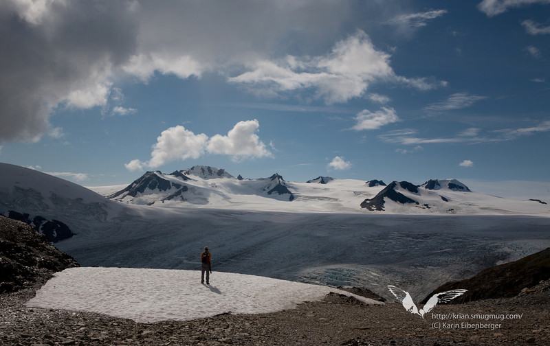August 2011. Hiking up the Harding Icefield Trail along Exit Glacier to the Harding Ice Field.