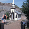 Just outside of  Drumheller: a very small church