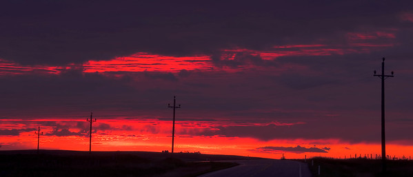 """Highway Sunrise""  Southern Alberta Near Waterton Lakes National Park"