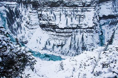 Central Alberta Bighorn Canyon Near Nordegg