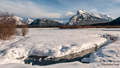 Mount Rundle from Vermillion Lakes Road 2014-01-06