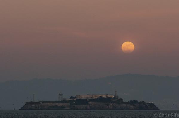Moonrise over Alcatraz