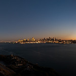 Moon over alcatraz pano