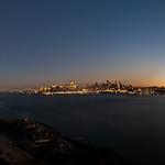 Moon over alcatraz pano