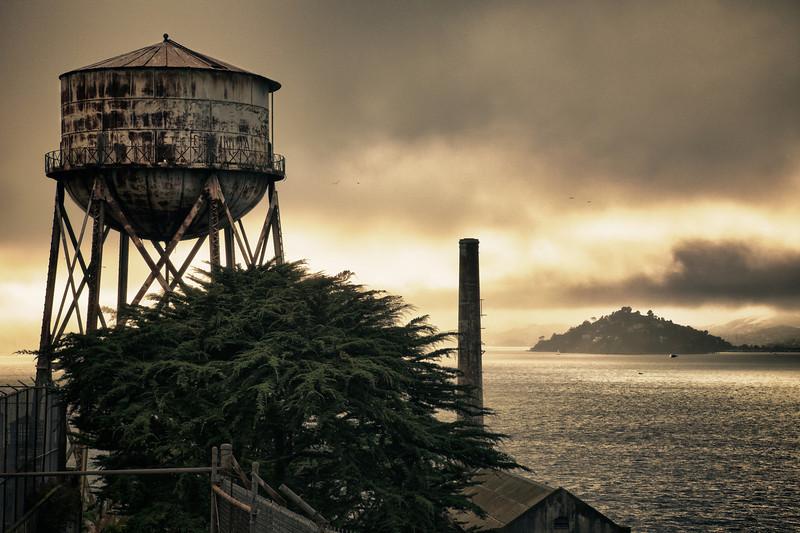 View North-West off Alcatraz Island