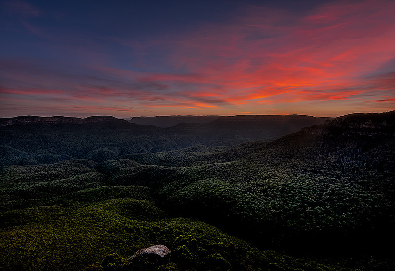Sunset at Sublime Point, Blue Mountains, Australia
