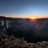Blue Mountain Sunrise, Govetts Leap Australia