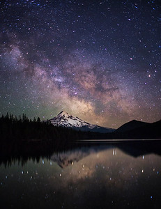 Lost Lake Milky Way - Vertical
