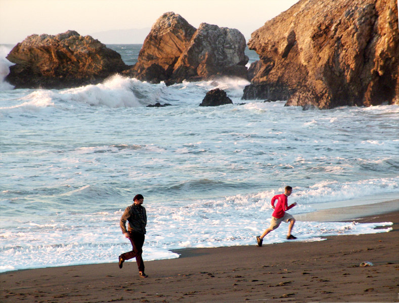 Run from the surf