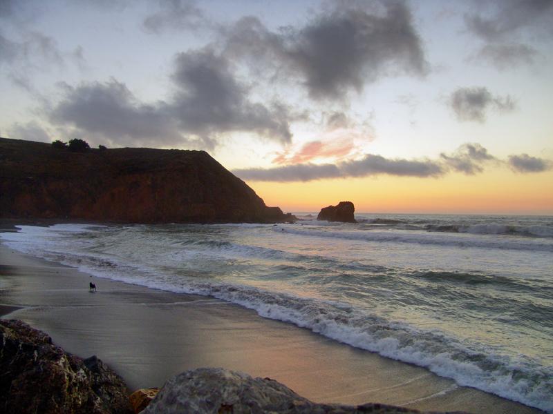 Rockaway Beach afterglow from sunset