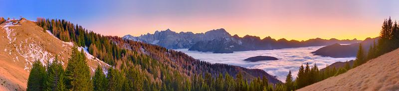 Alpi Giulie al vespero dall'Acomizza - foto n° 231215-00974