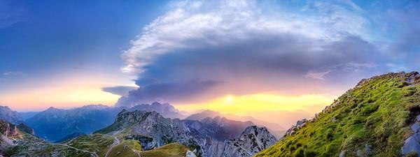 Alpi Giulie occidentali dal Mangart - foto n° 020809-131939