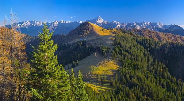 Monte Acomizza ed Alpi Giulie dal Gozman - foto n° 091115-514602#CX