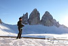 December 30, 2012 - January 1, 2013: Winter hike in the Dolomites<br /> Me with cold feet.