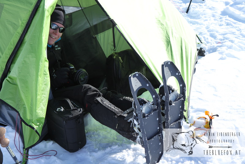 December 30, 2012 - January 1, 2013: Winter hike in the Dolomites<br /> Happiness is: tent, camera and wonderful weather.