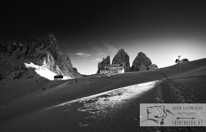 December 30, 2012 - January 1, 2013: Winter hike in the Dolomites<br /> The Tre Cime and the Paternkofel and the Rifugio Locatelli.