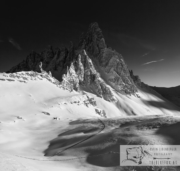 December 30, 2012 - January 1, 2013: Winter hike in the Dolomites<br /> Paternkofel.